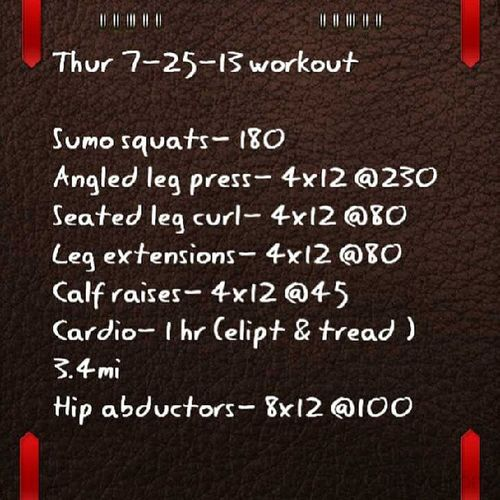 Wod Leg day Exercise Myquadsareonfire fitness weightloss imtrying workouts