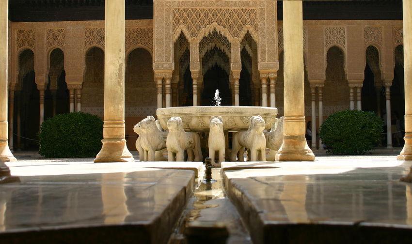 Fountain in historic building