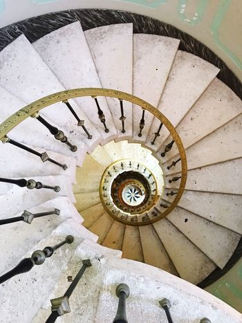 Spiral stair Steps And Staircases Staircase Spiral High Angle View Railing Steps Spiral Stairs Architecture Stairs Built Structure Spiral Staircase No People Day Vizcaya Miami Architecture Photography Travel Followme Modern Circle