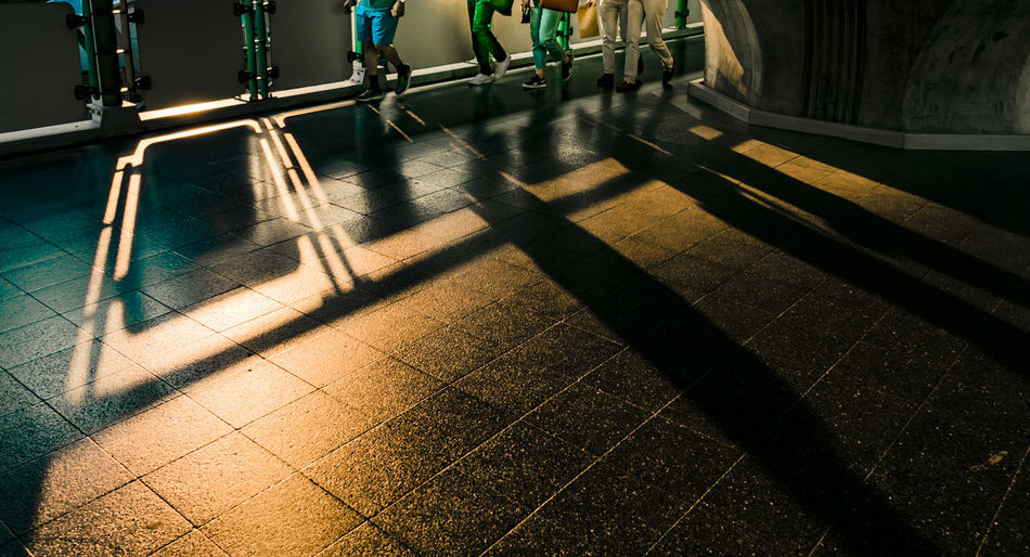 Shadow play Light & Shadows Day Exercising Healthy Lifestyle Indoors  Lifestyles Low Section Real People Shadow Sunlight