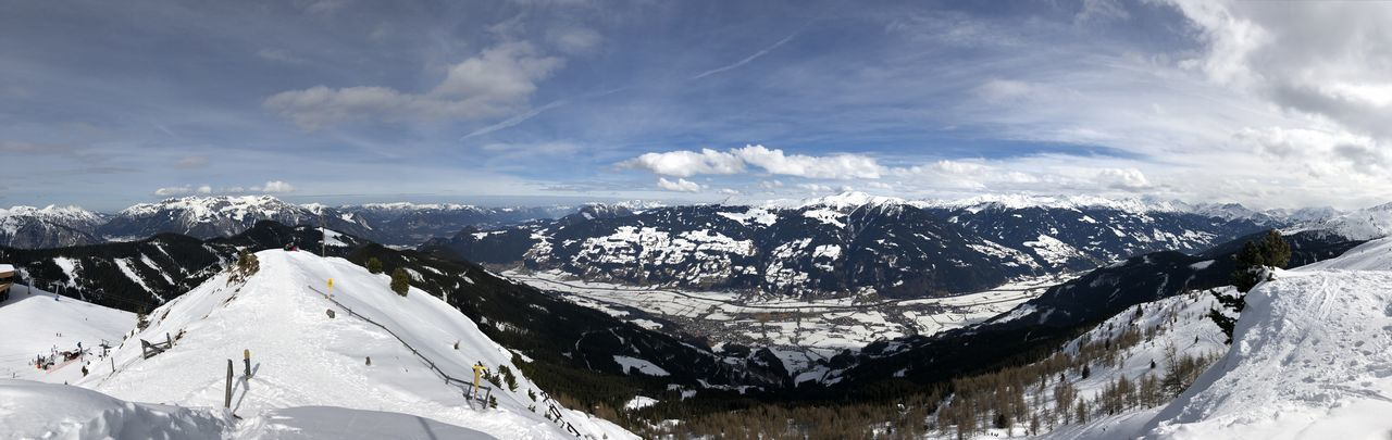 #Mountains #Panorama #Scenic View #Winter #alps #clouds  #skiing #snow #sun #topoftheworld #tranquillity
