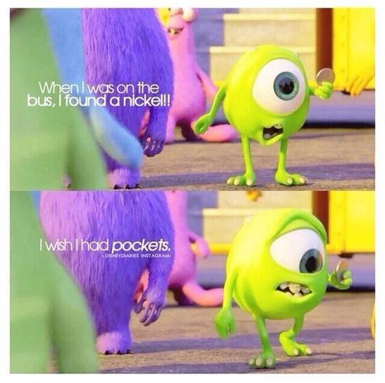 How cute?! Little Mike? Mike Wazowski Monsters University Disney Monsters INC