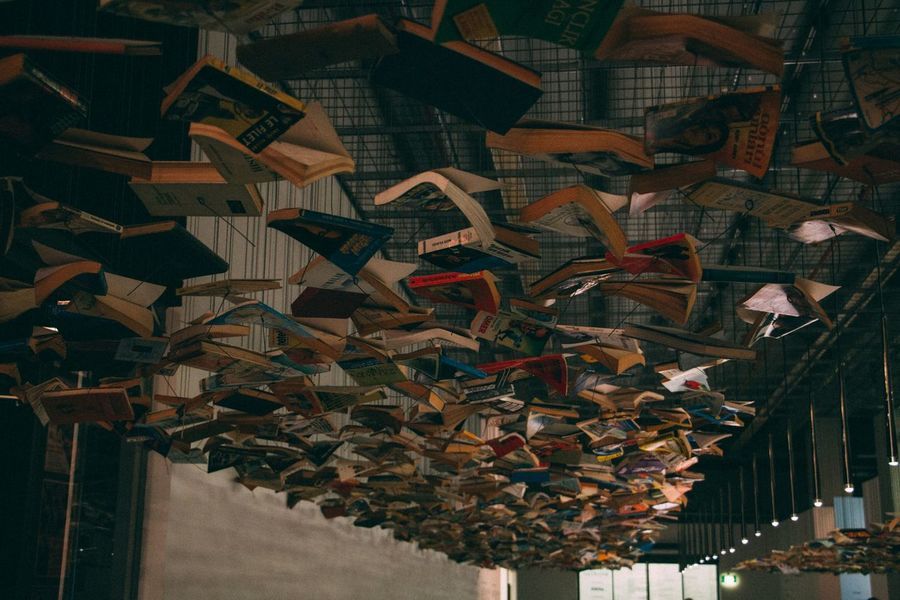 Books Hanging Canon 70d Canonphotography Canon Istanbulmodern Istanbul Turkey ArtWork Art Pattern Pieces