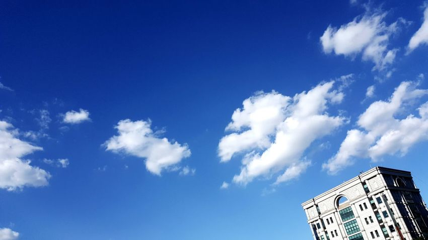 즐거운 감성 아름다운 휴식 여유로운 Suntanning Blue City Sky Cloud - Sky Residential Structure Office Building