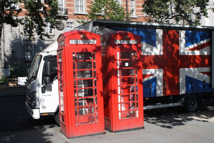 Telephone Box Destinations Red, British