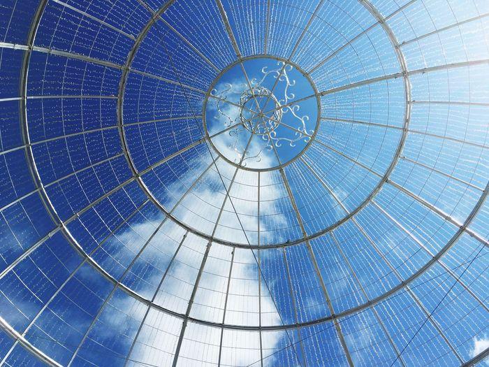 Full Frame Shot Of Metallic Cupola Against Sky