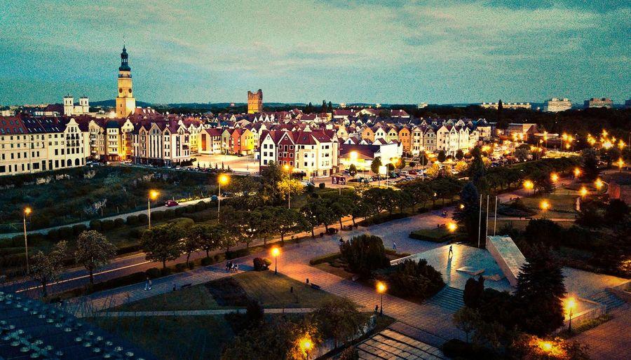 Cities At Night Glogow Ratusz RynekGlowny Staremiasto