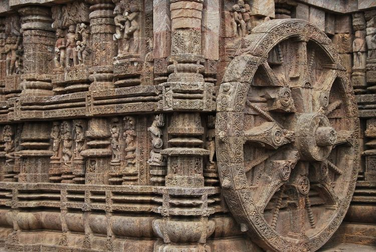 Chariot wheel at konark sun temple