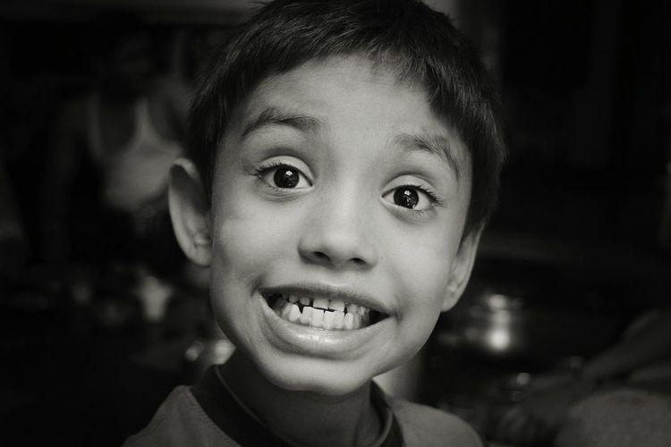 Portrait Of Grinning Boy