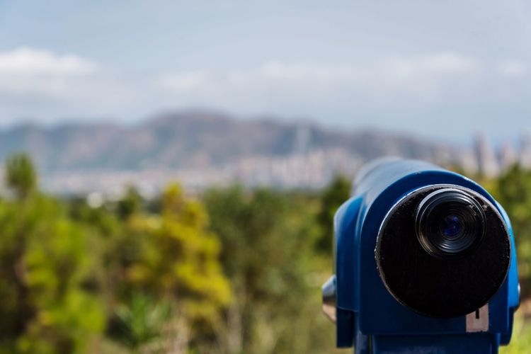 Focus On Foreground No People Day Coin-operated Binoculars Field Nature Outdoors Close-up Blue Beauty In Nature Technology Digital Single-lens Reflex Camera Sky EyeEm Gallery Benidorm Terranatura EyeEm EyeEmBestPics Nikon EyeEm Best Shots SPAIN Holidays Cityscape City Nikonphotography