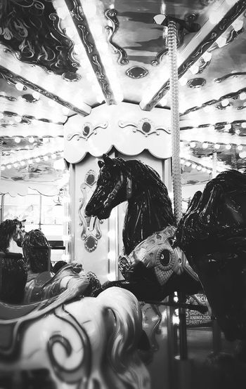 Arts Culture And Entertainment Black And White Friday Carousel Horses
