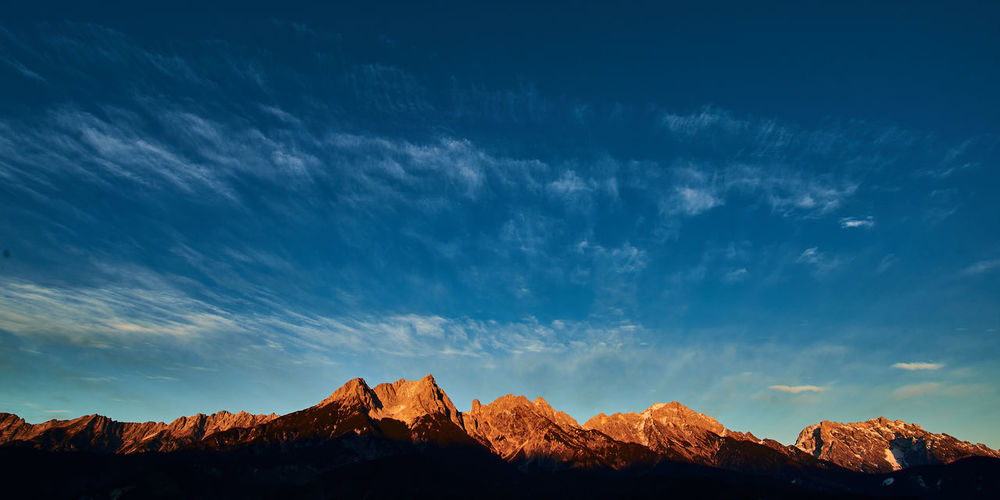 Sundown in the alps