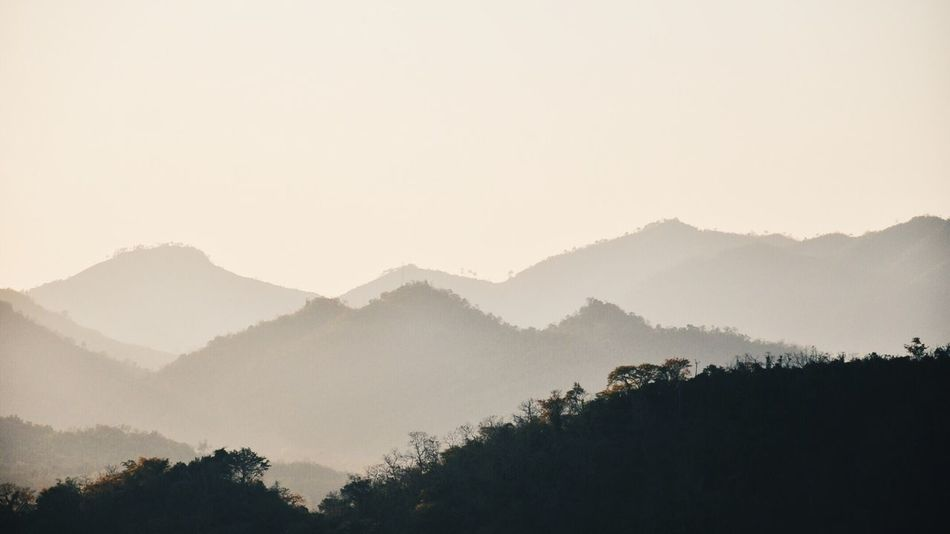 LPQ 3D Nature Landscape Scenics Tree Silhouette Mountain Range Travel