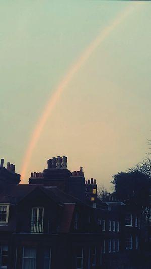 My first rainbow in London! Hello World