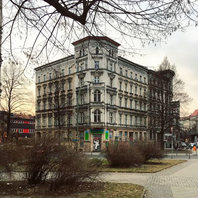 Architecture Berlin Photography Branches Classic Architecture Kreuzberg Skalitzer Straße Abstract Altbau Architecture Bare Tree Berliner Ansichten Berlinstagram Branch Building Exterior Built Structure City Clock Tower Day Minimal Nature No People Outdoors Sky Travel Destinations Tree
