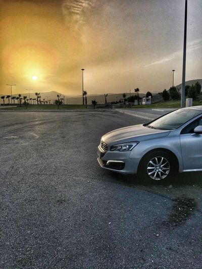 Sunset Peugeot508 508 Peugeot Car Sunset Transportation Land Vehicle Cloud - Sky Sky Mode Of Transport Outdoors Road Nature