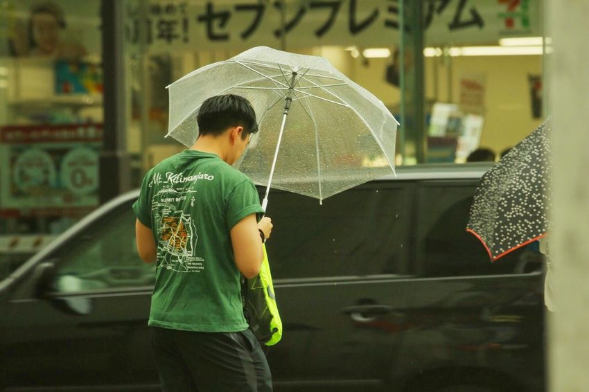 Rainy Season Wet Protection Rain Weather Street Outdoors Standing Japan Umbrella