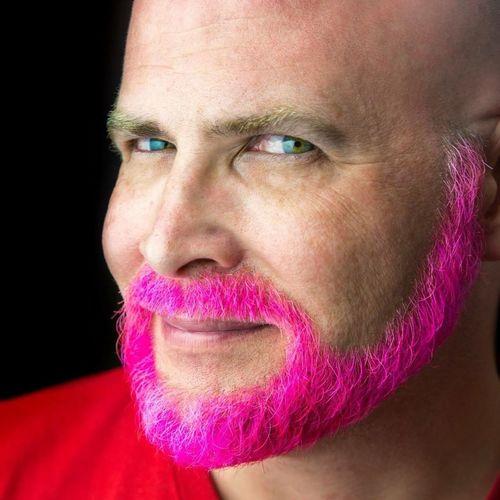 Pink Pink Hair Pink! Bearded Self Portrait Color Portrait Malemodel  Beardporn Sexybeast