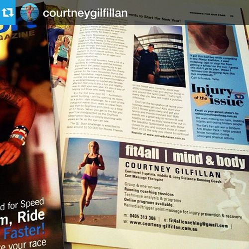 Repost @courtneygilfillan with @repostapp our pic from a 2014 shoot!・・・Thanks for the add @multisportMagazine RunningCoaching Triathlete NaturalTherapies Massage Sports InjuryPrevention Athlete Athletes Run Recovery @jkdimagery @courtneygilfillan