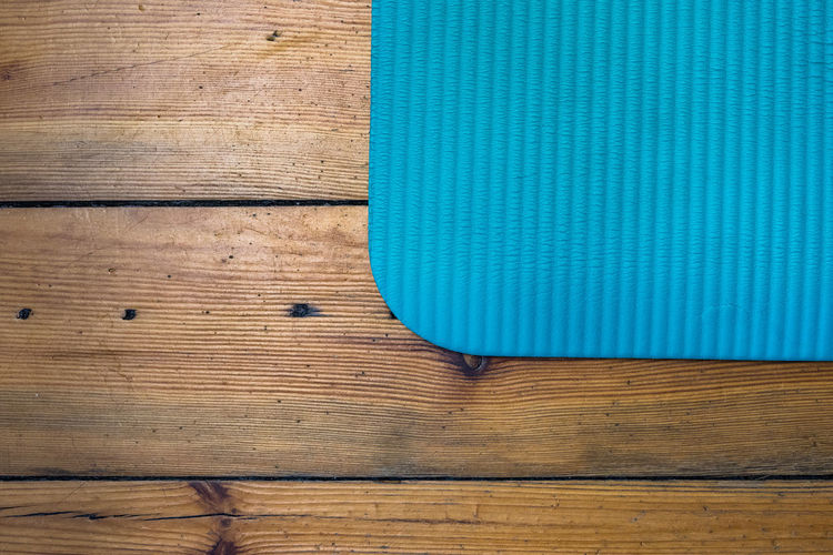 Yoga Yoga Mat Backgrounds Blank Blue Brown Close-up Day Full Frame Hardwood Healthy Lifestyle Indoors  Indoors  Lifestyles Motion No People Old Old Building Apartment Pattern Sport Textured  Wood - Material Wood Grain Wood Planks