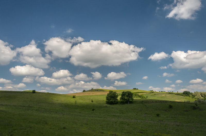 Beauty In Nature Blue Clouds Cloudscape Cloudy Green Landscape Nature Outdoors Romania Sky Skyscape Windows