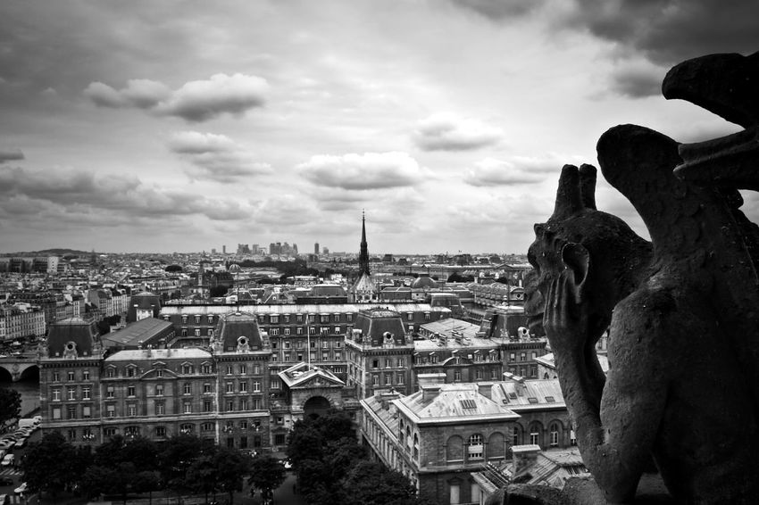 Cathedrele Notre Dame de Paris Gargoyle Travel Photography Travel Paris France Black And White Hello World Tourist Taking Photos Cityscape The Week On EyeEm