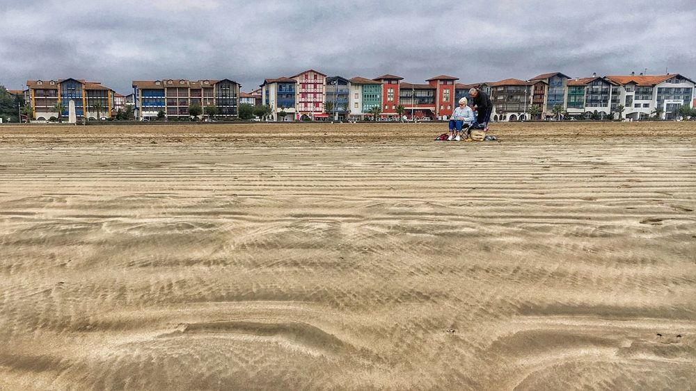 Hendaye Beach 😀 Pays Basque France Sand Outdoors Architecture View Colors Iphoneonly EyeEm IPhoneography Iphonographie Iphonegraphy IPhoneography Mobilephotography Iphonephotography IPhone Photography Travel Destinations Autumn Instagramer EyeEm EyeEm Best Shots Holidays Souvenir