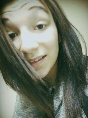 No Make-up Straight Hair Smile :)