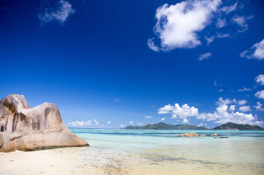 La Digue Anse Lazio Anse Source D'argent Beach Beauty In Nature Blue Cloud - Sky Day Horizon Over Water Landscape Mahé Nature No People Outdoors Praslin Seychelles Sand Scenics Sea Sky Tranquility Travel Travel Destinations Vacations Water Wave