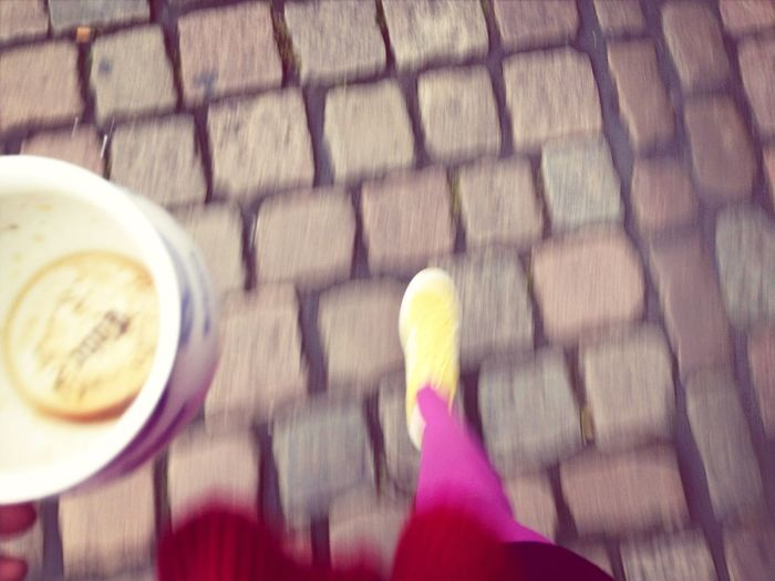 Pink legs but no coffee