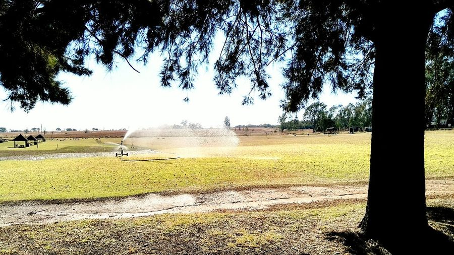 Watering grass fields. Just another day on the farm. Farm Life Farmlife Farmland Just Another Day On The Farm Grassland Watering The Grass Instant Lawn Lawn Grass Muldersdrift, South Africa