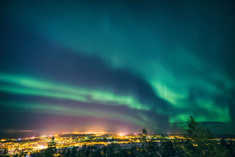 my 1st Northern lights Astronomy Aurora Aurora Borealis Beauty In Nature City Cityscape Cloud - Sky Dramatic Sky Finland Lapland Nature Night No People Northern Lights Outdoors Rovaniemi Scenics Sky Star - Space Travel Destinations Winter EyeEmNewHere