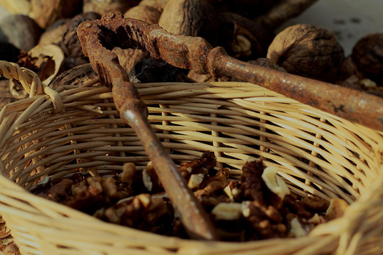 Brown Close-up Dry Healthy Eating Nut-cracker Still Life Walnut Tree Wood - Material