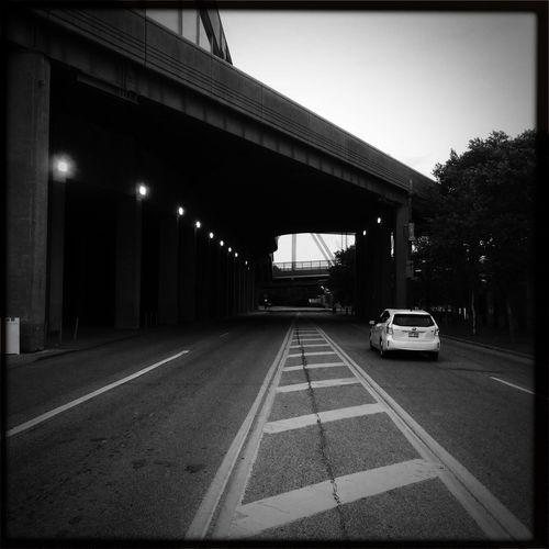 Street Bridge Blackandwhite Hipstamatic