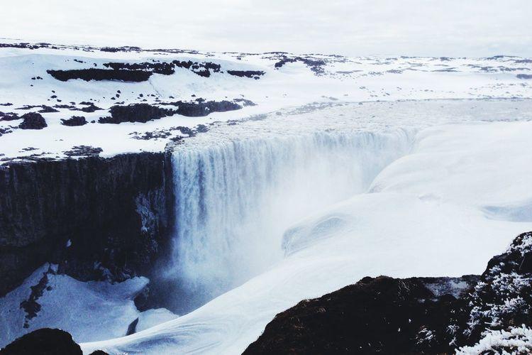Idyllic view of dettifoss waterfall