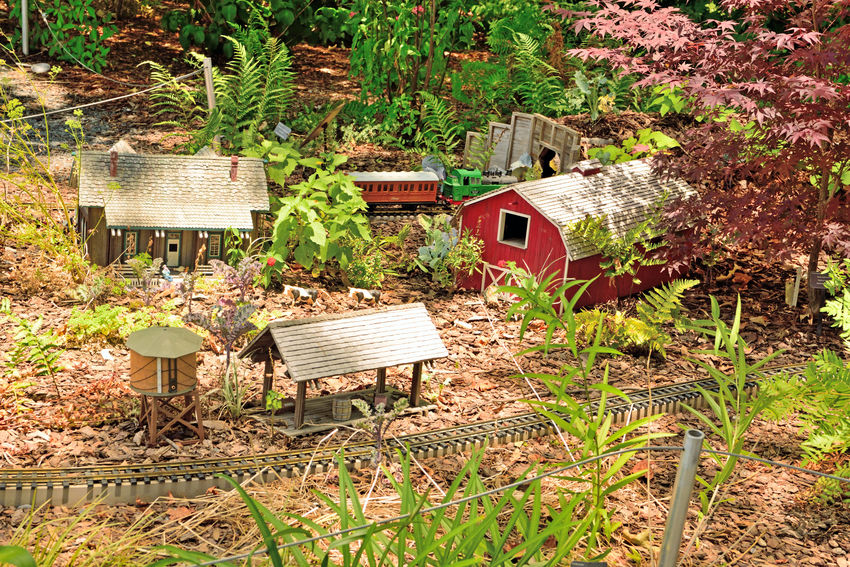 Locomotion In The Garden 5 Atlanta Botanical Gardens Garden Railroad Still Life Still Life Photography Landscape Dwarf Plants Landscape_lovers 3 Dimensional Living Sculpture Made To 1/2 Inch Scale Train Lovers Exhibit Creator : Paul Busse Of Applied Imagination Landscape Architecture Miniature Railroad 1/4 Mile Of Track 7 Trains 20 Bridges Passenger/freight/steam Trains Garden Buildings Sculpted From Natural Materials Bark,twigs,nuts,acorns,seeds,mosses,pinecone Scales Garden_collection Garden Photography Trains And Railroads Railroad Photography