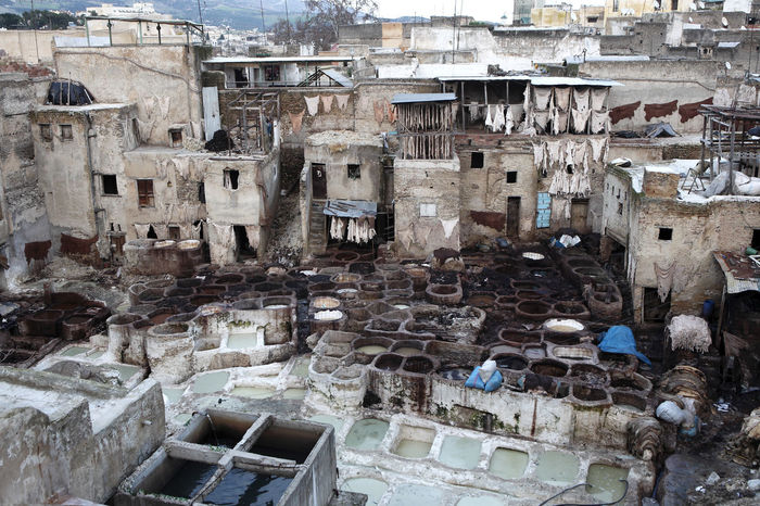 Abandoned Architecture Built Structure Cityscape Day Dyeing Fes, Morocco Leather Morocco MoroccoTrip No People Outdoors Residential Building Tannery Travel Travel Destinations Travel Photography