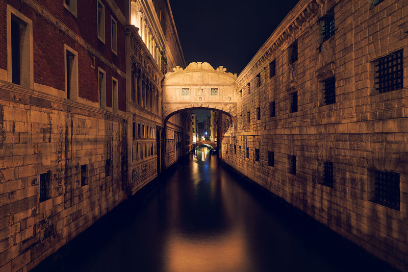 Bridge of Sight Architecture Bridge Of Sighs Building Exterior Built Structure City History Illuminated Light Effect Long Exposure Night Outdoors Reflection Tourism Travel Travel Destinations Venezia Venice Venice, Italy Venise