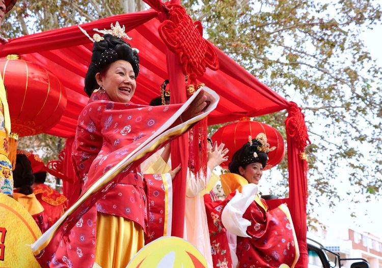 Chinese new year celebrations in Cyrildene, Johannesburg Traditional Clothing Chinese Traditional Style Parade Float Parade Chinese New Year 2018 Johannesburg Cyrildene Chinese New Year Only Women Day People Females Real People Tree Warm Clothing Togetherness Happiness