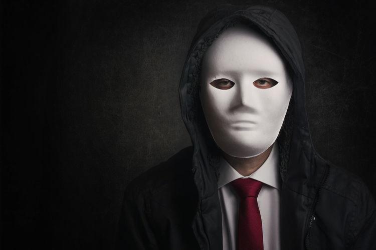 Business Dark Fear Impostor Leader Lying Man Black Background Business Businessman Confidential Fake Fraud Identity Infidelity  Jacket Liar Lie Looking At Camera Nightmare Password People Spy Studio Shot Virus