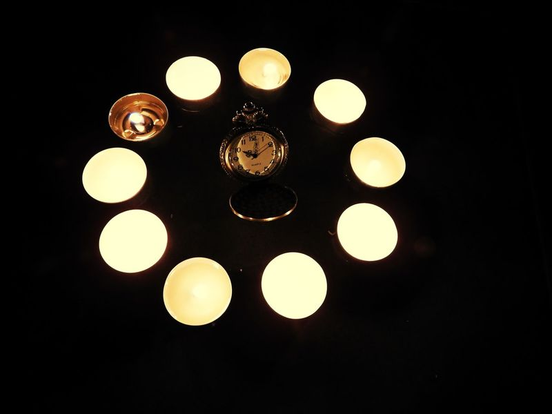 Le temps en lumière 10 Year Anniverary  Candle Illuminated Indoors  No People Night Light Geometric Shape Circle 10