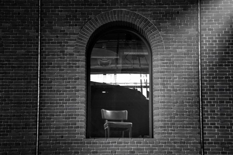 Architecture Brick Wall Entrance Built Structure No People Arch Toilet Bowl Bathroom Indoors  Day Blackandwhite Black And White Chair Window Architecture Minimalism Abstract Still Life Indoors  Light And Shadow