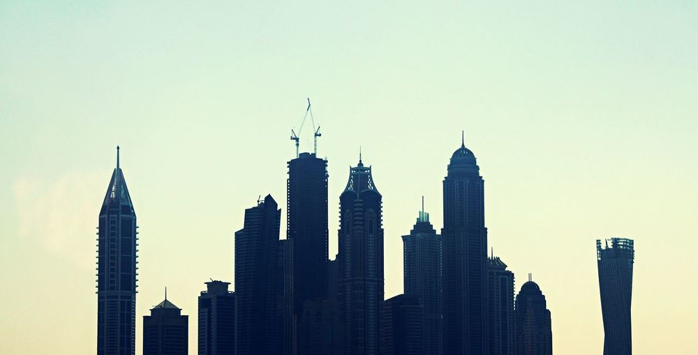 Architecture Skyscraper Building Exterior Tower Built Structure Urban Skyline Travel Destinations City Modern Business Finance And Industry No People Downtown District Silhouette Cityscape Outdoors Sunset Sky Day Dubai Dubaimarina Dubai Marina
