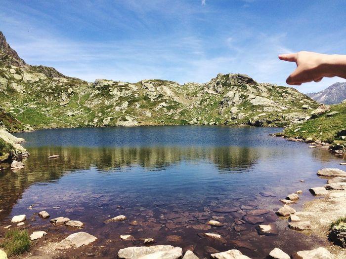 Hiking Lac Blanc Landscape Mountains