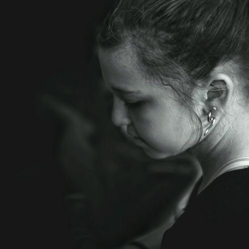 Earings Taking Photos Mydaughter❤️ A Day In The Life Monochrome Teenager B&W Portrait