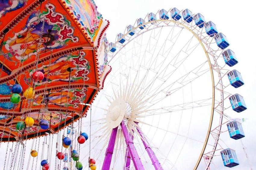 Cranger Kirmes  Volksfest Riesenrad Kettenkarussell Spaß Wolkenlos