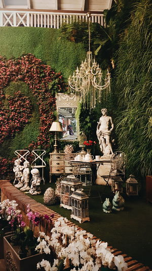 Statue Human Representation Sculpture No People Day Nature Plant Home Decor Retro Vintage Flower Shop Store Places
