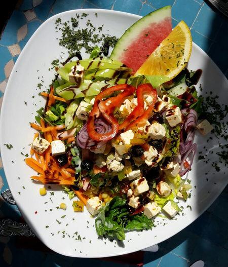 Marokanisches Essen Marokanische Küche Food Good Looking Lecker Colorful Wassermelone Feta Cheese Gesund Healthy Eating