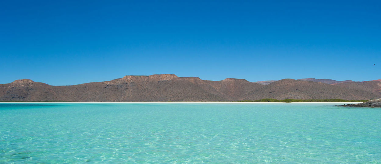 Baja California Sur Isla Espiritu Santo Mexico Travel Travel Photography Beauty In Nature Blue Clear Sky Clear Waters Day Horizon Landscape Landscape Photography Nature No People Outdoors Paradise Scenics Seascape Sky Straight Lines Tranquil Scene Tranquility Water