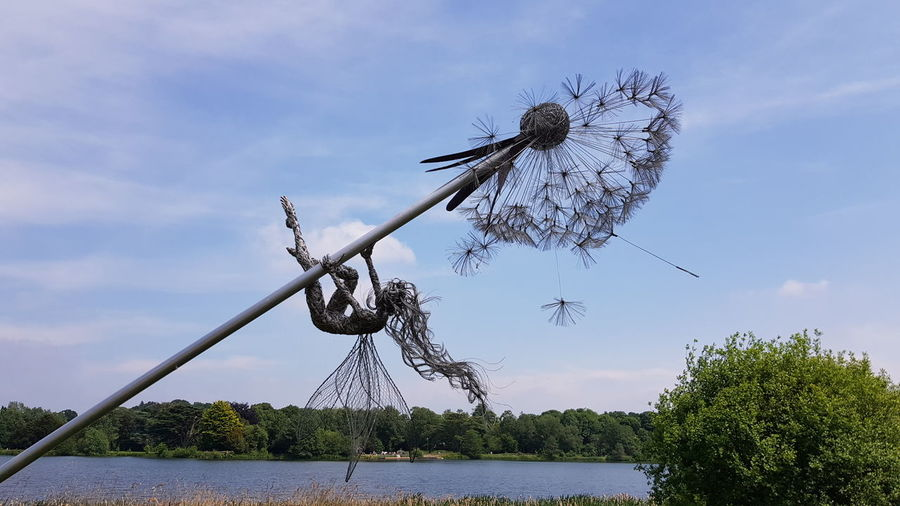 One of the wonderful fairies at Trentham Gardens 😁 Trenthamfairies Trenthamgardens For Anyone Whos Interested Beauty In Nature Beautiful Nature Beautiful Having Fun Tree Water Sky Cloud - Sky